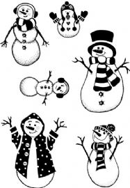 Card-io Combinations A7 Clear Stamp Set - Snow Family - CDCCSTSNO-01